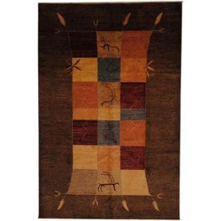 Herat Oriental Afghan Hand-knotted Vegetable Dye Wool Rug (6'6 x 10')