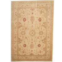 Herat Oriental Afghan Hand-knotted Vegetable Dye Wool Rug (6'9 x 9'7) - 6'9 x 9'7