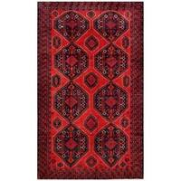 Herat Oriental Afghan Hand-knotted Tribal Balouchi Wool Rug (6'7 x 11') - 6'7 x 11'