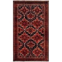 Handmade Herat Oriental Afghan Tribal Balouchi Wool Rug  - 5'7 x 9'8 (Afghanistan)