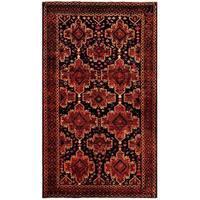 Herat Oriental Afghan Hand-knotted Tribal Balouchi Wool Rug (5'7 x 9'8) - 5'7 x 9'8