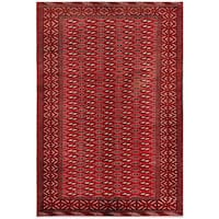Herat Oriental Afghan Hand-knotted Tribal Balouchi Wool Rug - 6'2 x 8'10