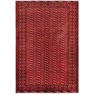 Handmade One-of-a-Kind Balouchi Wool Rug (Afghanistan) - 6'2 x 8'10