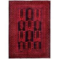 Handmade Herat Oriental Afghan Tribal Balouchi Wool Rug (Afghanistan) - 6'9 x 9'8
