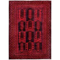 Herat Oriental Afghan Hand-knotted Tribal Balouchi Wool Rug - 6'9 x 9'8