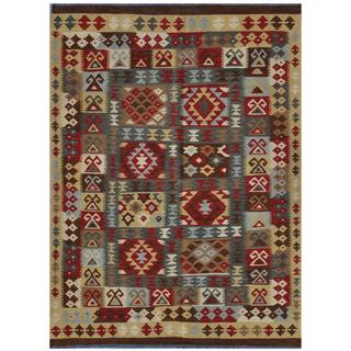 Herat Oriental Afghan Hand-woven Wool Kilim (4'9 x 6'10)