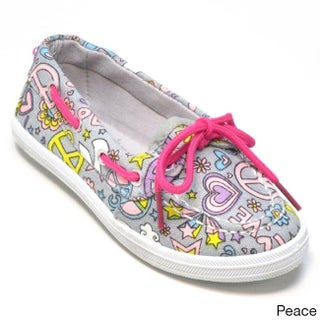 Blue Kids 'Boaty Disco' Printed Fabric Boat Shoes (More options available)