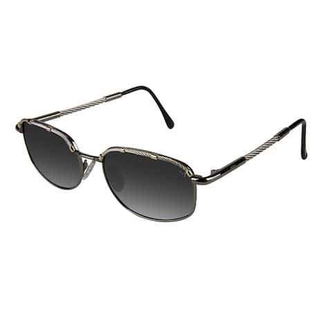 Xezo Men's 'Airman' Titanium and Cable Steel Polarized Sunglasses - Black - Large