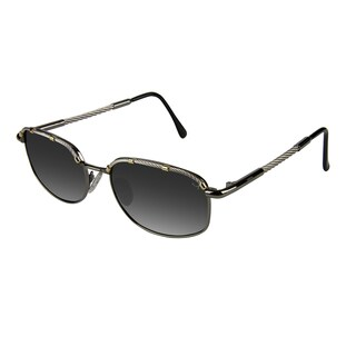 Xezo Men's 'Airman' Titanium and Cable Steel Polarized Sunglasses