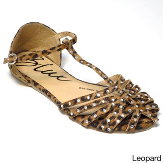 Blue Women's 'Lollie' Studded Strappy Flat Sandals