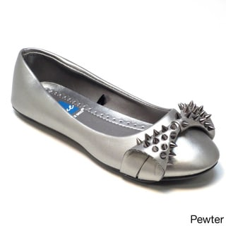 Blue Women's 'Katniss' Spiked Bow Ballet Flats