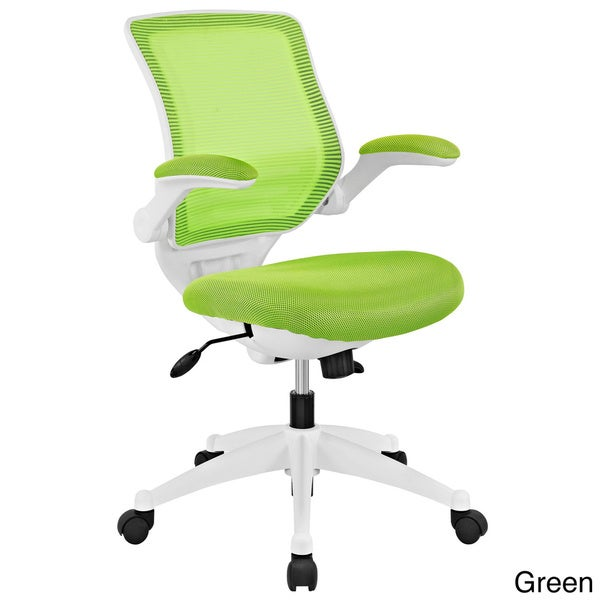 white frame office chair. Modway White Frame Mesh Seat Edge Office Chair
