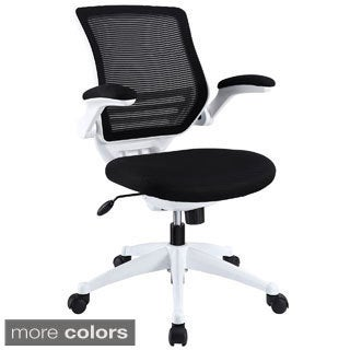 Modway White Frame Mesh Seat Edge Office Chair
