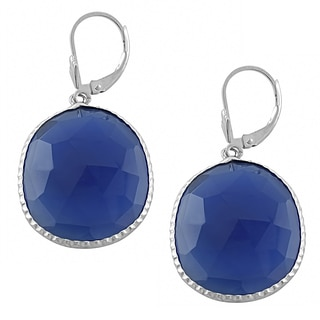 Fremada Sterling Silver Blue Chalcedony Dangle Earrings