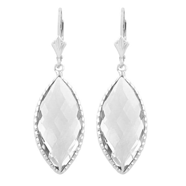 5e93f394a Shop Fremada Sterling Silver Marquise Clear Quartz Dangle Earrings ...