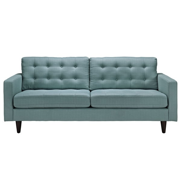Empress Tufted Upholstered Sofa Free Shipping Today Overstock - Tufted upholstered sofa