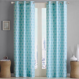 Porch and Den Carytown Dooley Geometric Print Curtain Panel Pair