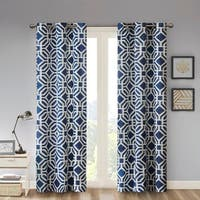 Clay Alder Home Manhed Geometric Print Curtain Panel