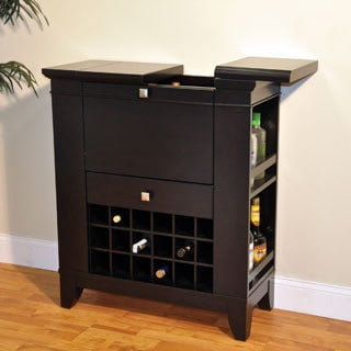 Whitaker Furniture Gianna Espresso-finished Wine and Spirits Cabinet