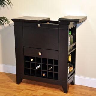 Whitaker Furniture Gianna Espresso Bar Cabinet