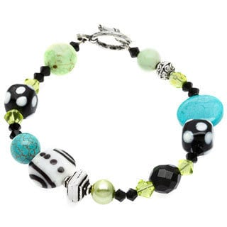 .925 Sterling Silver Multi-gemstone Bracelet
