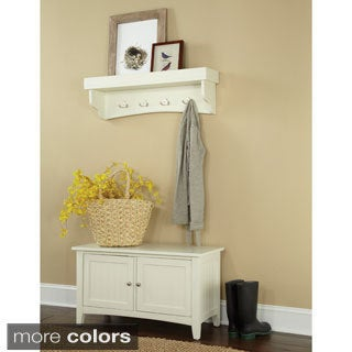 Copper Grove Daintree Tray Shelf Coat Hook and Storage Bench Set