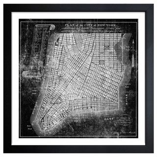 Oliver Gal 'Map of the City of NY 1871' Framed Print Art