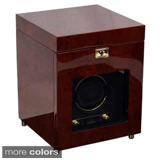 WOLF Savoy Single Winder and Storage Watch Box