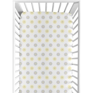 Sweet Jojo Designs Mod Garden Fitted Crib Sheet