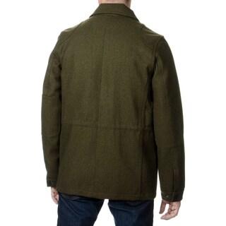 Fleet Street Men's Military Style Water-resistant Coat