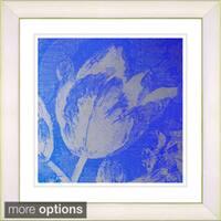Zhee Singer 'Blue Tulip' Framed Fine Art Print