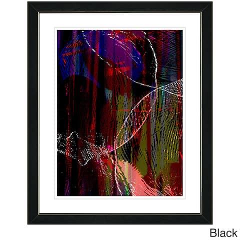 Zhee Singer 'Orange Flame Conversions' Framed Fine Art Print