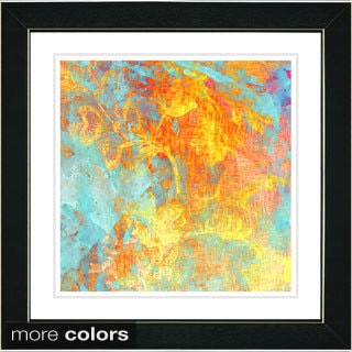 Zhee Singer 'Orange Mint Liara' Framed Fine Art Print