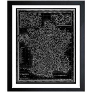 Oliver Gal 'France Map 1849' Framed Print Art