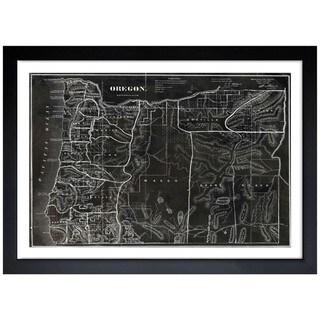 Oliver Gal 'Map of Oregon 1866' Framed Art