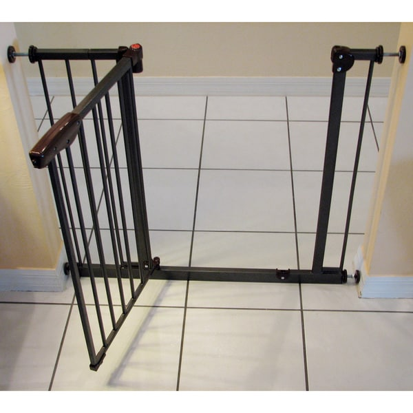 Shop Crown Brown Auto Close Pressure Mounted Pet Gate