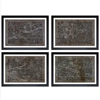 Oliver Gal 'Celestial Map XVI Century - 4 Panels' Framed Art - Brown
