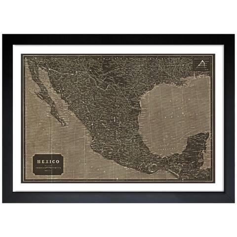 Oliver Gal 'Mexico 1919 Map' Framed Art