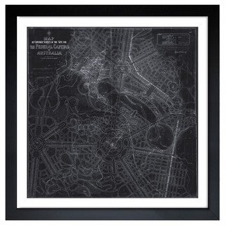 Oliver Gal 'Design for Australia's Capital Map 1911' Framed Art