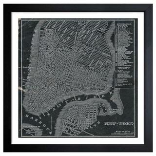 Oliver Gal 'New York Map 1946' Framed Art