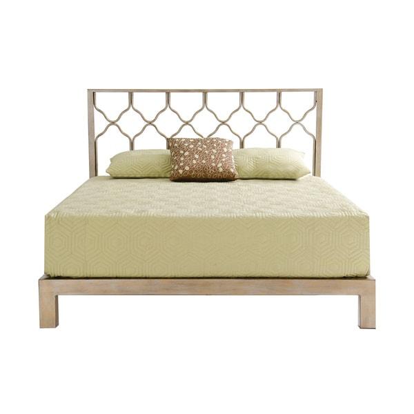 Honeycomb Gold Metal Headboard And Aura Platform Bed