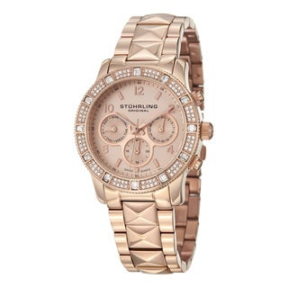 Stuhrling Original Women's Lady Nobilis Rosegold Tone Swiss Quartz Watch