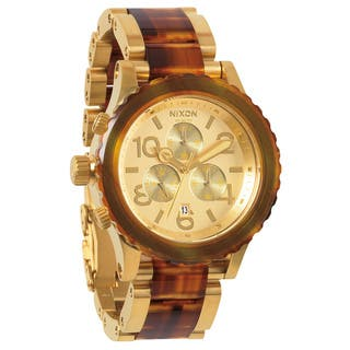 Nixon Men's 42-20 Chrono Gold and Molasses Watch|https://ak1.ostkcdn.com/images/products/8707976/Nixon-Mens-42-20-Chrono-Gold-and-Molasses-Watch-P15957946.jpg?impolicy=medium