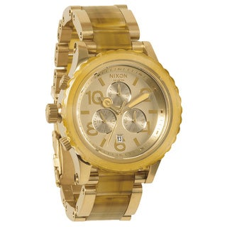 Nixon 42-20 Chrono Light Gold and Amber Watch