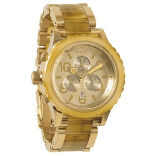 Nixon Men's 42-20 Chrono Light Gold and Amber Watch