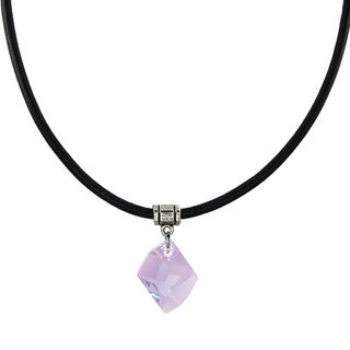 Jewelry by Dawn Violet Crystal Cosmic Greek Leather Necklace