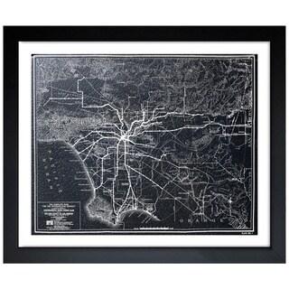 Oliver Gal Artist Co. 'LA Rapid Transit Map 1925' Framed Art Print