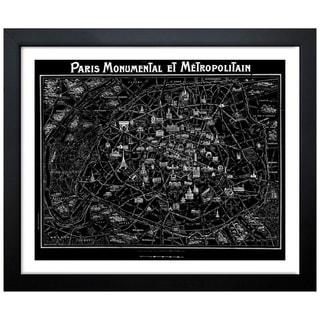 Oliver Gal Artist Co. 'Paris Metropolitain Map 1920' Framed Art Print