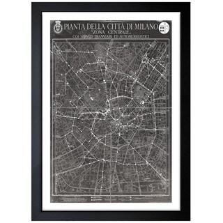 Oliver Gal Artist Co. 'Washington Rapid Transit Co. Map 1927' Framed Art Print