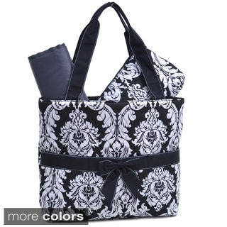 Rosen Damask Print 3-piece Diaper Bag Set